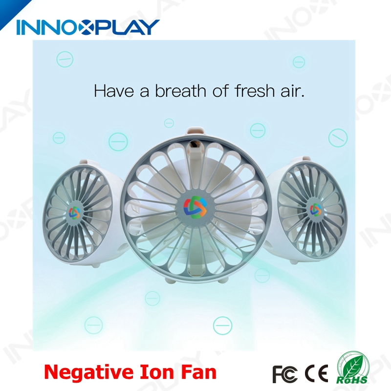 Newest Outdoor Rechargeabel USB MINI Portable Fan With Negative Ion Fresh Air Function