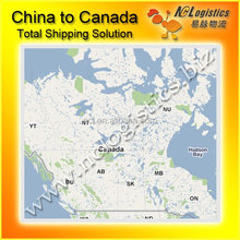 small cargo ship from China to Halifax Canada