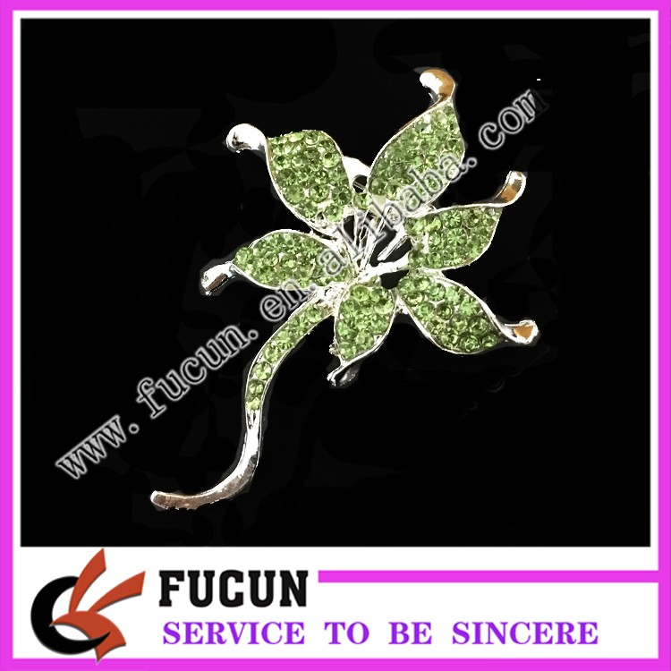 costume ball jewelry diamond gold crystal bowknot brooch