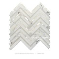 calacatta white mix mother of pearl large chevron marble mosaic tile interior wallpaper