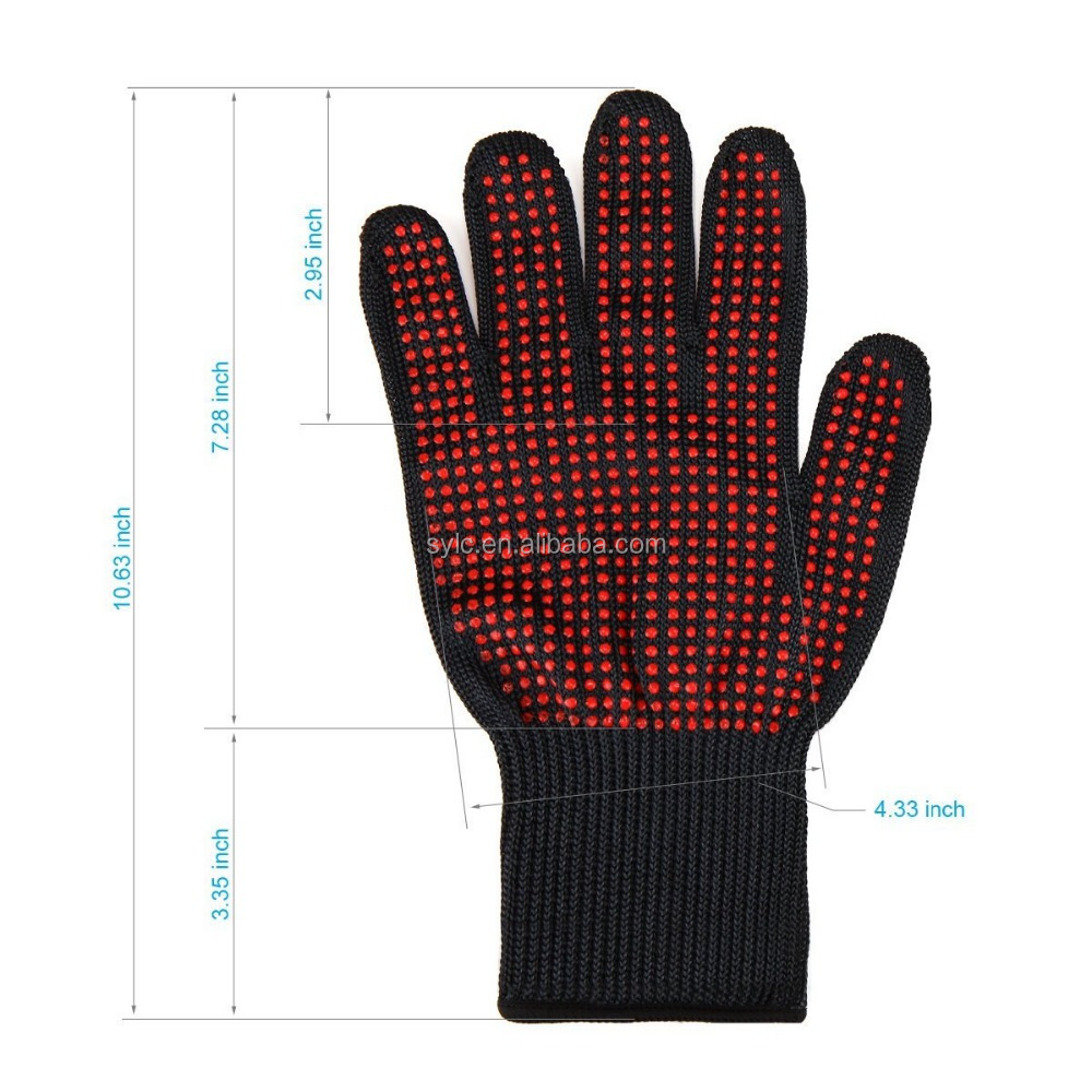 LINGCHEN Factory direct supply Cut Protection Cut Resistant Gloves meat cutting gloves by EN-407