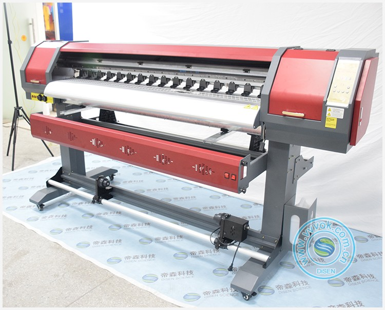 Small heat transfer color vinyl wall car pvc sticker printing plotter cutter eco solvent printer digital printing machine price