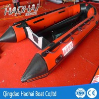 4.7m pvc folding aluminum floor inflatable speed boat