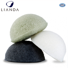 Activated Charcoal, Turmeric, Green Tea. Facial 100% Natural, Gentle Exfoliating, Deep Cleansing, Improved Texture konjac sponge