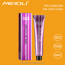 100ml OEM welcomed hair color made in italy style ammonia free professional hair color cream with free samples
