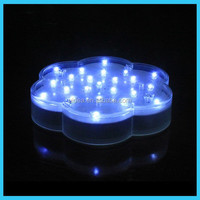 LED Flower Undervase Centerpiece Light For Decoration/Scalloped shape 6 inch LED plate light for vase