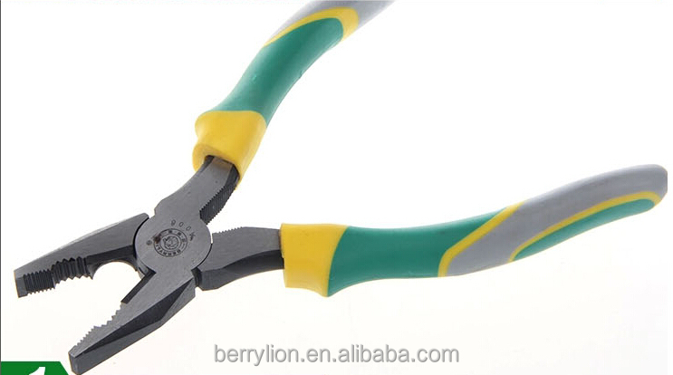 "Berrylion 3 Colors Handle Combination Pliers 8"" Plier Free sample Plier"