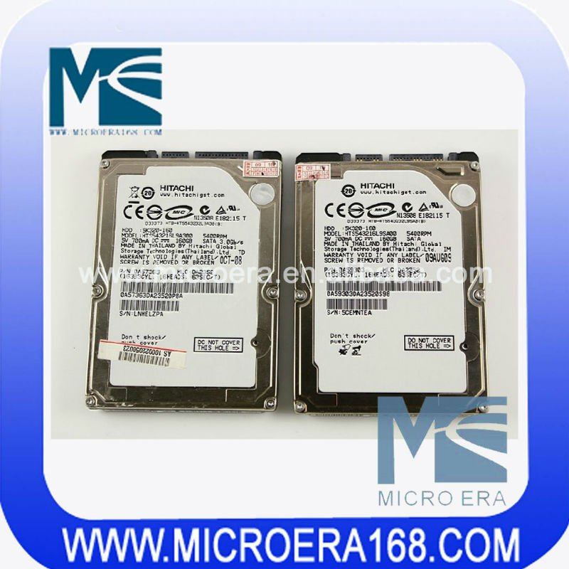 laptop Hard Disk SATA interface 160GB refurbished