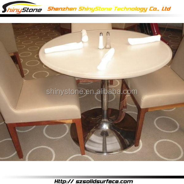 Luminated cafe bar acrylic solid surface long extendable glass dining table