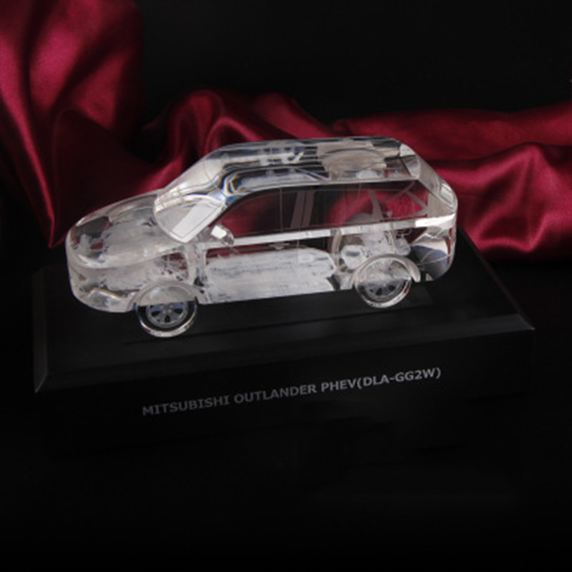 3d laser ornaments crystal car moder for toy and art collection
