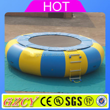 Inflatable water trampoline , water toys for the lake