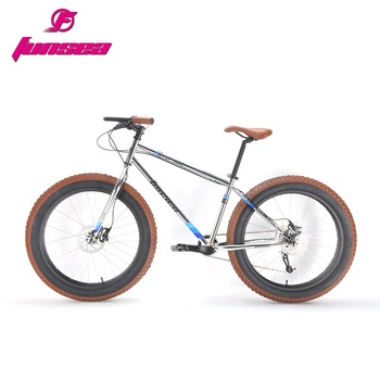 "Funsea custom quality disc brake CR-MO beach cruiser colored big tyre snow bikes 26""*4.0"" fatbike snow fat tyre bicycle for men"