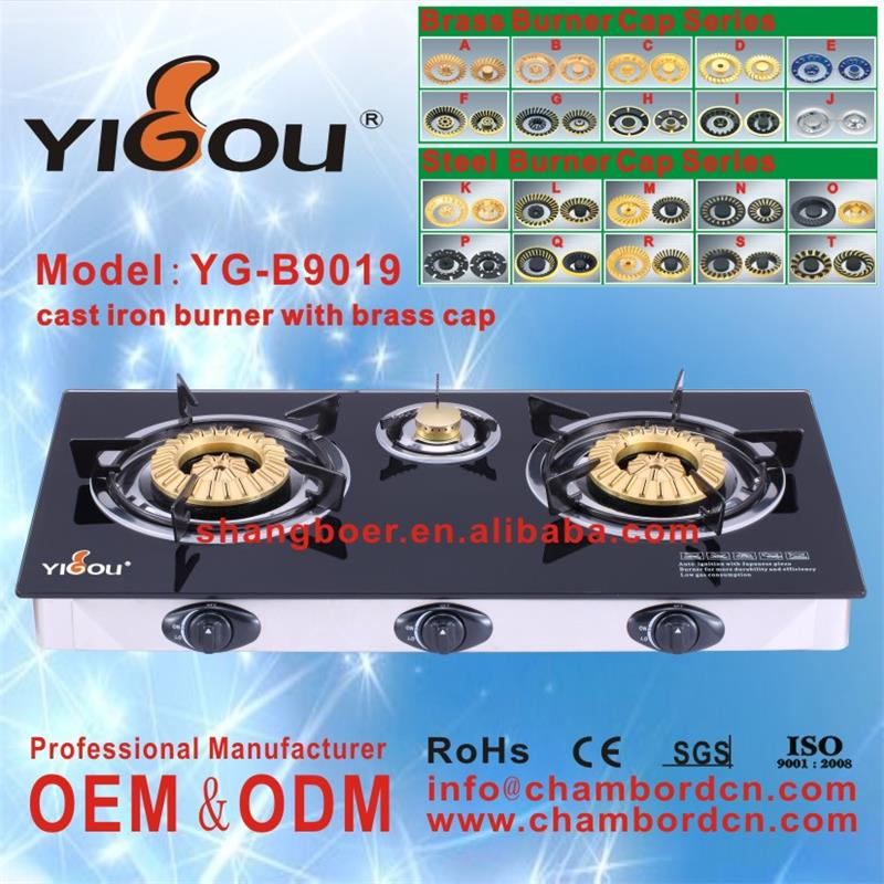 YG-B9019 gas hob spare parts gas stove and range hood