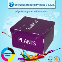 Plants Customized Color Cardboard Storage Boxes
