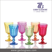NEW DESIGNED colored wine glass stemware gift boxes wholesale, colored cocktail red wine drinking glass , long stem water cup