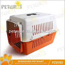 FC-0702 pet carrier plastic with urine tray