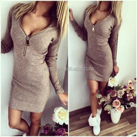 Cheap Fashion Long Sleeve V-neck Style For Mature Women In Skirts