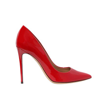 China factory price red patent leather women pumps 12cm high heel shoes