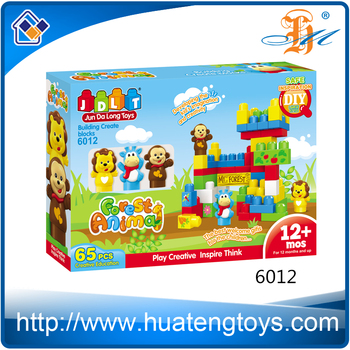 Hot Educational Game aniaml build construct blocks Toy for child