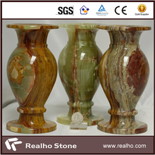 Luxury Decorative Green Onyx Stone Flower Vase