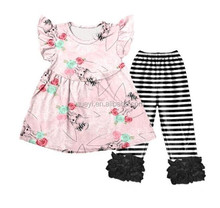 least Baby Ariel Princess Bodysuit stripe icing ruffle pants wholesale boutique set
