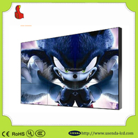 55 Inch frameless lcd monitor with video wall With super Slim 3.5mm lcd video wall screen display