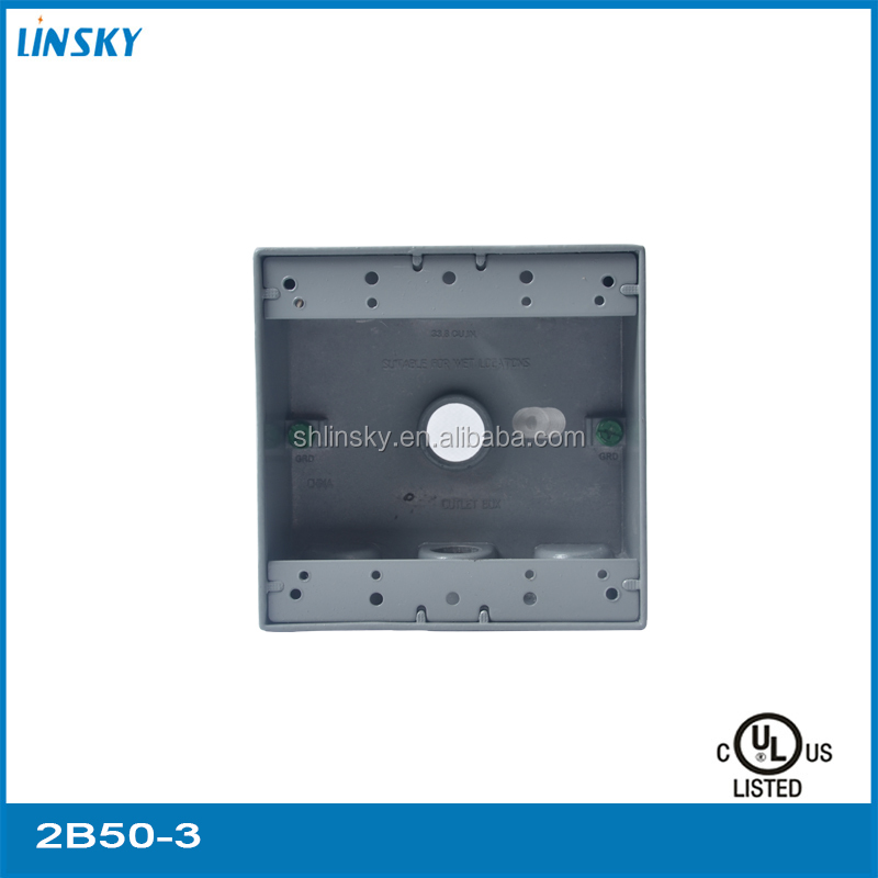 "Aluminium Die Cast 3/4""Hole Steel City Electrical Weatherproof Receptacle Outlet Junction Box"