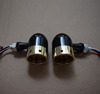 Bobber Motorcycle new drill turn signals custom turn lights