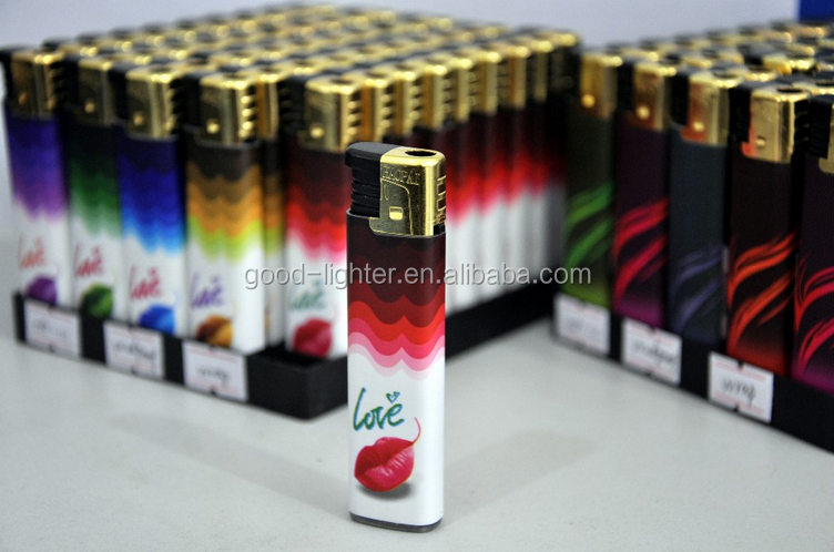 Refillable gas lighter Windproof lighter custom cigarette lighter