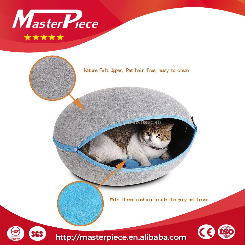 Cat Cage/ Pet Cave- Natrue Felt Upper, Pet Hair Free