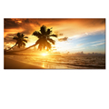 Custom Stretched Canvas Beachscape Canvas Print Golden Beach Picture Canvas Artwork Modern Interior Decoration Home Decor