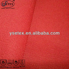 Red Low formaldehyde for 100 Cotton durable antifire fabric used for antifire workwear in oil and gas area