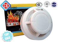 Home Security Wired Conventional Photoelectric Cigarette Smoke Detector Fire Alarm