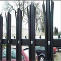 2.40mtr high galvanised and PPC green or black palisade fencing