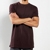 wholesale mens dark purple basic custom longline t shirt