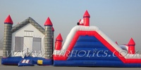 Long Inflatable Water Toy Jumping Obstacle Bouncer