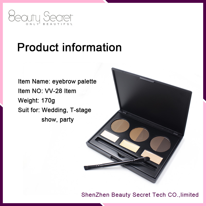 wholesale and private lable 9 color eyebrow cream palette for tint eye brow kit