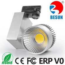 Europe standard 2 3 4 wires single head 20w cob led track light for clothes store car exhibition