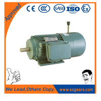 Electromagnetic brake electric motor B5 mounting
