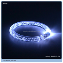 Modern party use magic LED flashing heart finger ring