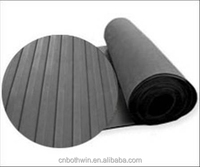 "Wide Ribbed Rubber Sheet Rubber Flooring 1/2"" Thick x 6"" Width x 12"" Length"