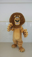 China OEM factory produced madagascar alex the lion mascot costume