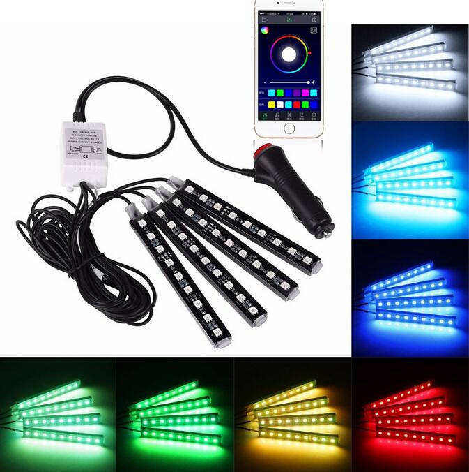 Hot product Phone APP control Sound reactive car cigarette lighter led light