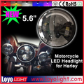 "wholesale led motorcycle headlight bulb 5.6"" 5.7"" inch 40w high low beam headlight with angel eyes"