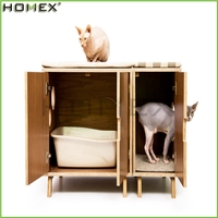 MDF Wood Cat House/Pet Furniture/Homex_BSCI