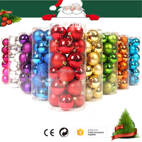 Colorful New Year Christmas Tree Decorative Christmas Balls