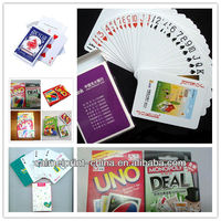 custom funny laminated poker playing cards printing