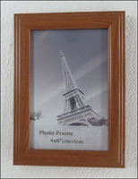rare wood color PS material frame picture