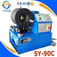 Corrugated steel hose SY-90C air hose crimping machine for production