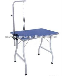 UW-GR-019 Newest blue folding pet grooming table for dogs with arm